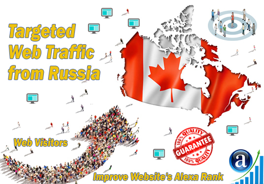 I will send 25000 web visitors targeted organic traffic from Canada