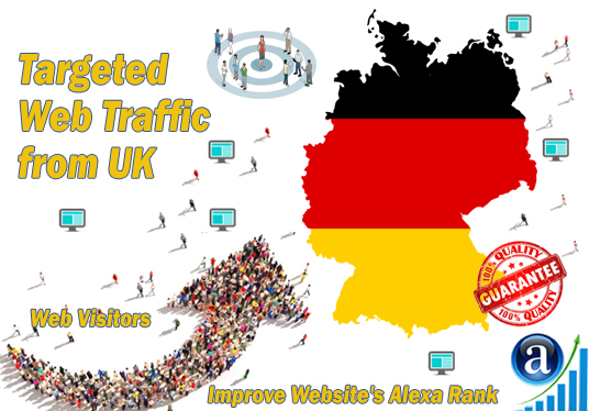 send 25000 web visitors targeted organic traffic from Germany