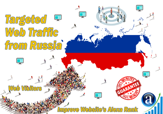 I will send 25000 web visitors targeted organic traffic from Russia