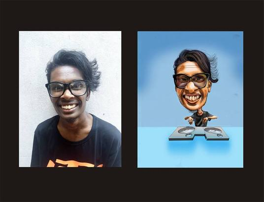 I will do your funny and beautiful caricature