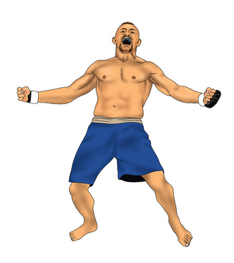 illustrate amazing full color mixed martial arts,boxing,muai thai, and any full contact sports