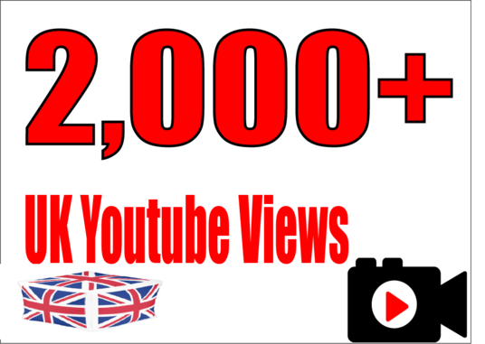 I will Provide you 2,000 UK High Quality YouTube Video Views