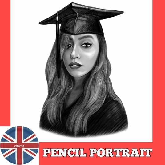 I will draw a custom Graphite Pencil Portrait