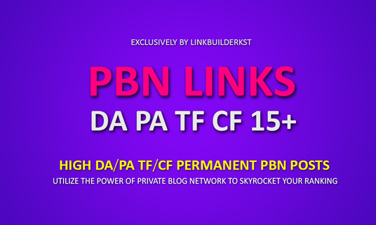 I will Do Permanent 10 Homepage PBN Posts - TF/CF/PA/DA 15+