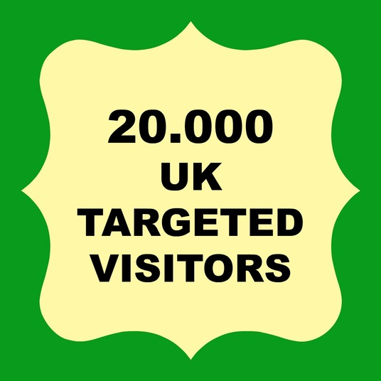 I will send 20.000 Website Traffic UK TARGETED