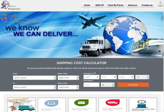 I will create web application for online courier services