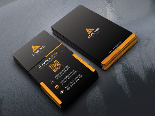 I will design double sided business card for your identity