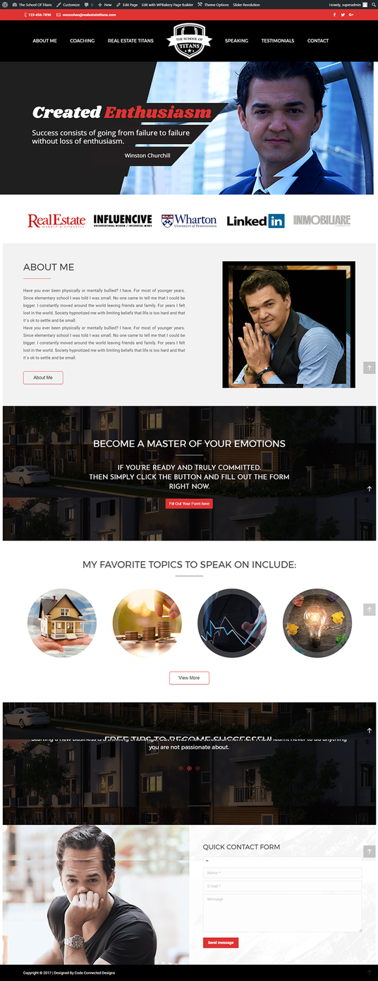 I will Create Responsive Wordpress Website for you