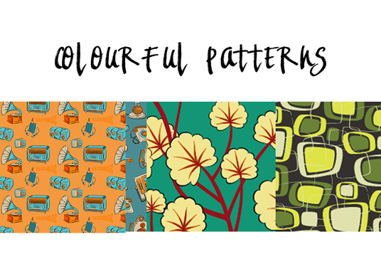 I will design a colourful pattern