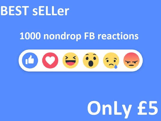 I will give 1000  any facebook  reaction like  on your post