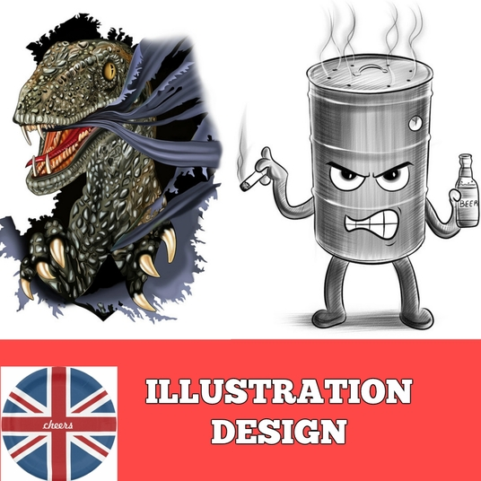 I will draw any logo, icon or illustration in digital style
