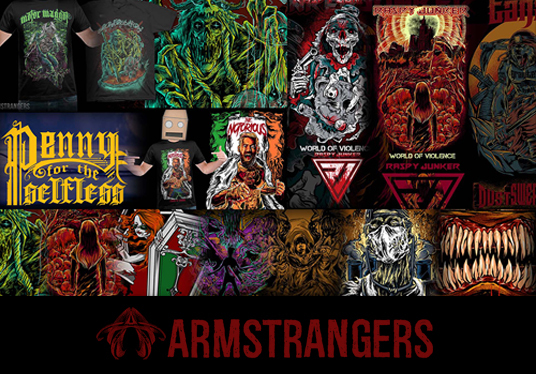 I will Draw Rad Detailed Tshirt For Your Band And Brand
