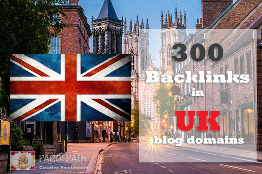 I will create 300 backlinks in CO UK blog domains