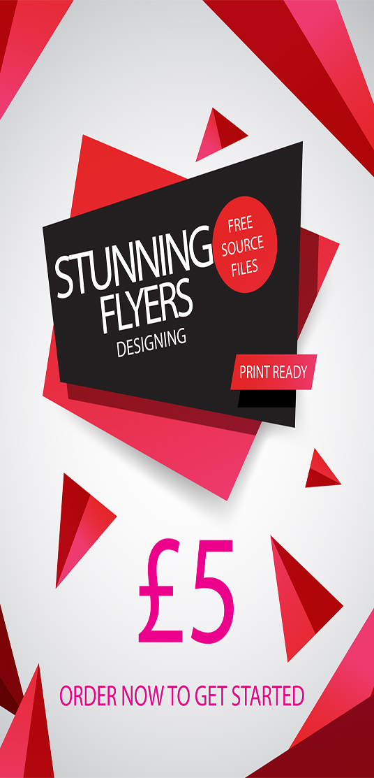 I will DESIGN STUNNING AND PROFESSIONAL  FLYERS