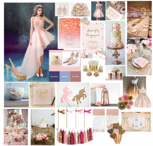 I will create a personalised design mood board for any wedding or event
