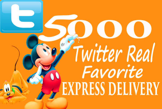 I will Give  you 5,000+ Twitter Favourites with Real users Guaranteed
