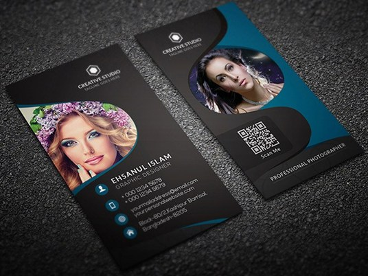 I will design CLASSIC Vertical Business Card or Visiting Card