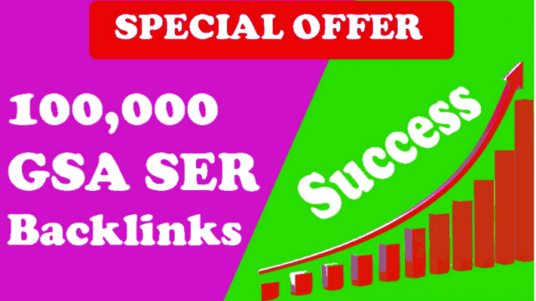 I will Give you  100,000 Gsa Ser Quality Backlinks For Seo