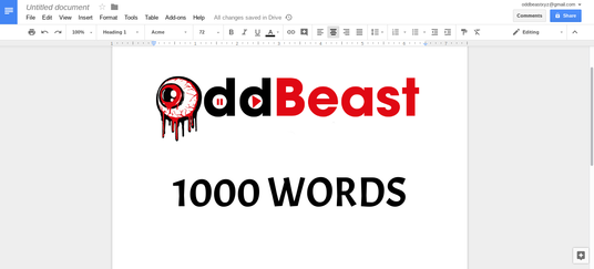 I will write a 1000 word blog article