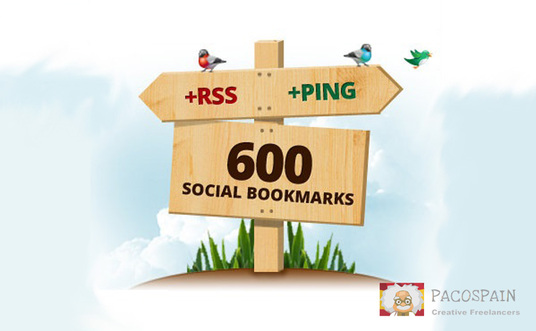 I will create 600 High Quality Social Bookmark Links