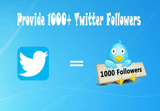 I will Provide 1000+ Twitter Followers
