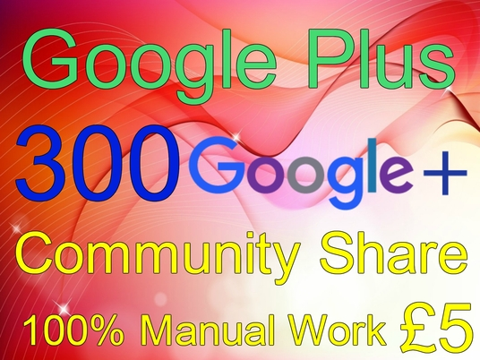I will do 300 niche related google plus community share to promote your link