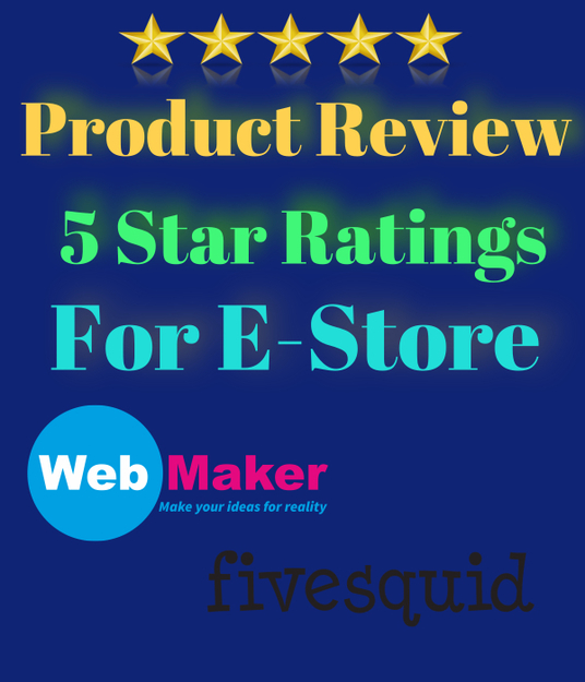 I will write product reviews and give a 5-star rating for your e-commerce website