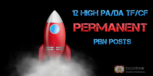 I will Create 12 High Permanent PA/DA TF/CF Homepage PBN Backlinks