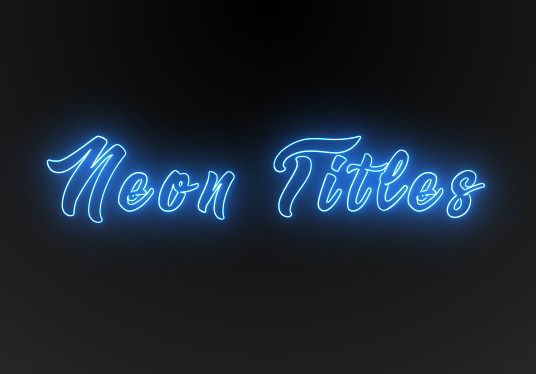 I will create animated neon titles for you