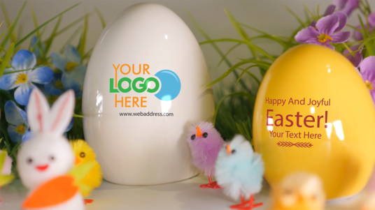 I will Make Creative Happy Easter Intro With Your Logo