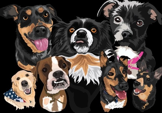 I will Draw A Vector Portrait of Your Pet