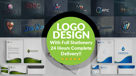 I will Design a clean, modern logo with 3 concepts + Business Card + Letterhead
