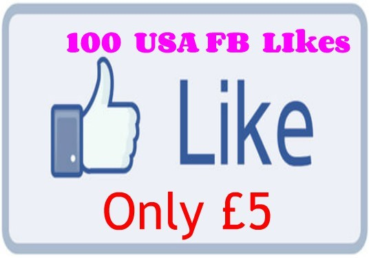 I will Add 100 USA based Facebook Likes to your Facebook Page, Post, Photo, Website, URL Only