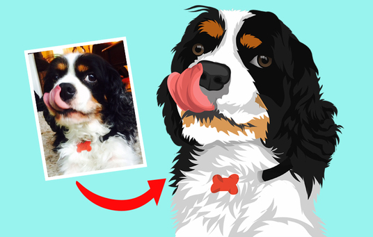 I will make vector illustration dog cat animal pet cartoon portrait