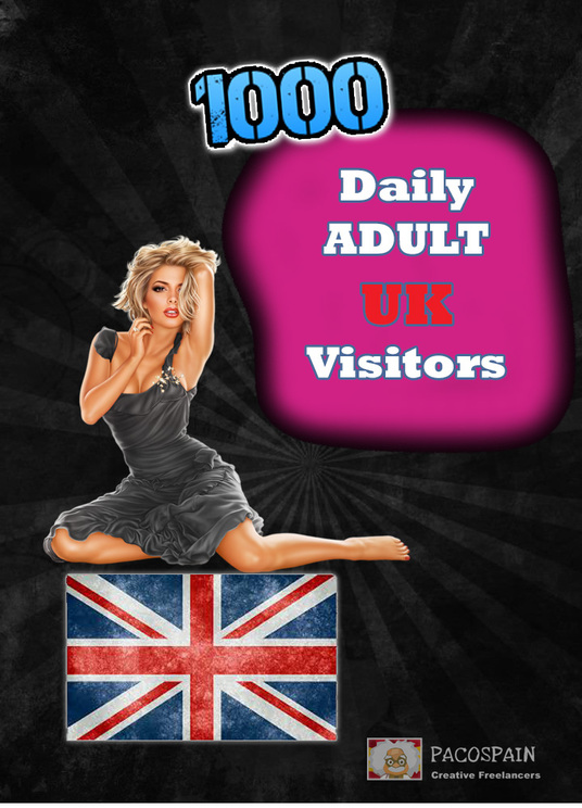I will send 1000 UK Adult keyword Targeted Visitors for 30 Days - Low bounce rate