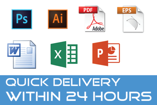 I will Edit Your PSD Ai Eps Pdf File Within 24 Hours