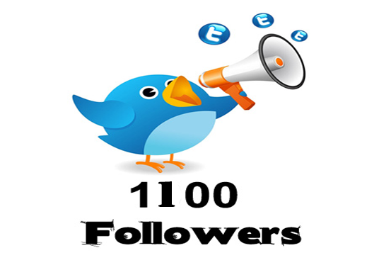 I will Provide 1100 Twitter Followers