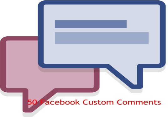 I will Add 50 Facebook Custom Comments Only
