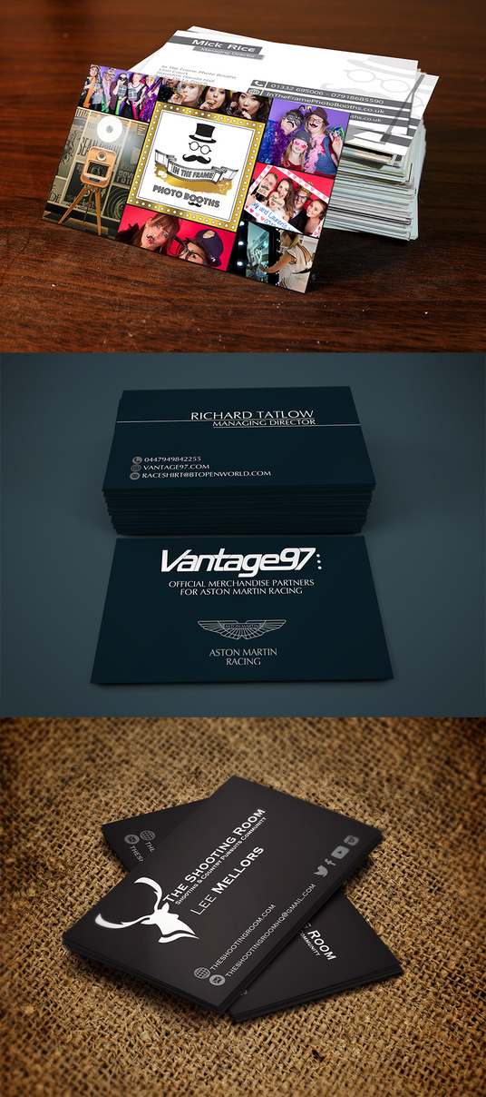 Print 500 x Business Cards On Premium Silk Board with FREE UK ...