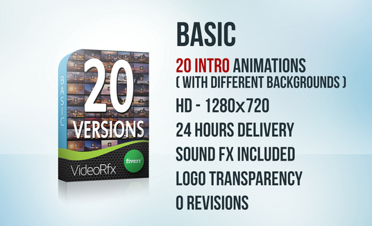 Create 20 versions Intro Logo Animations with your Logo
