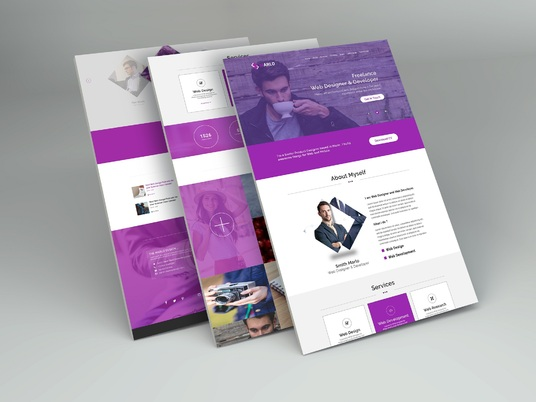 I will design gorgeous landing page for your business