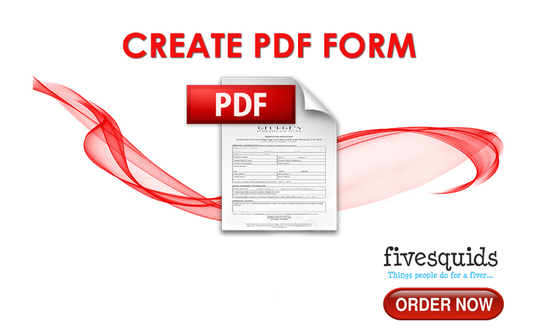 I will create a fillable PDF form quickly