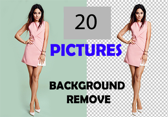 I will background removal of 20 pictures