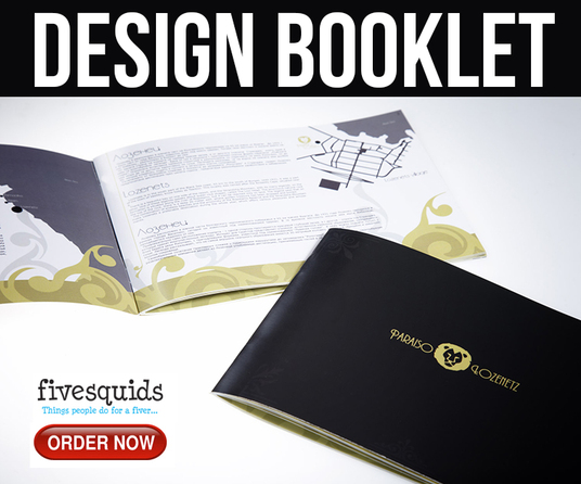 I will design a booklet professionally