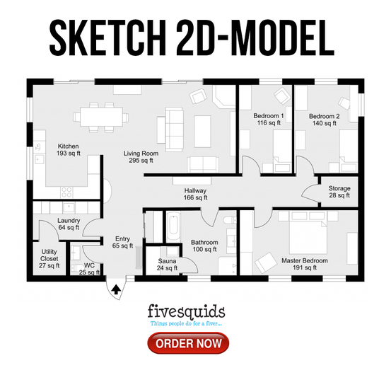 I will sketch 2d model of your product
