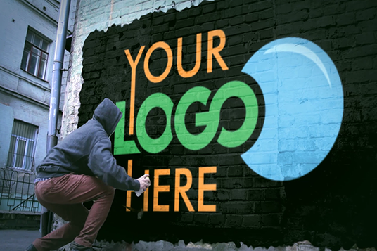 I will Spray Your Logo On The Wall In New York