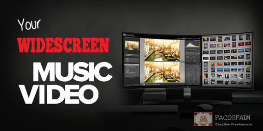 I will create professional widescreen music video