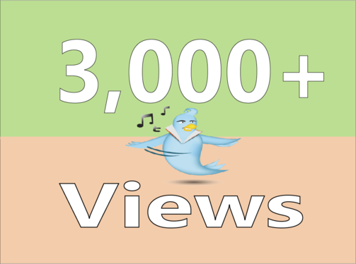 add you Real 3,000+ Twitter Video Views