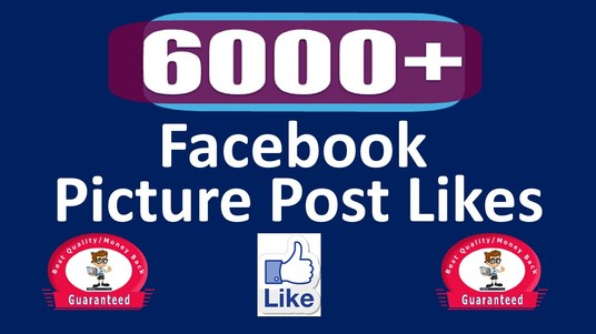 I will Add 6000 Permanent Picture Post likes, Real & Active User Guaranteed