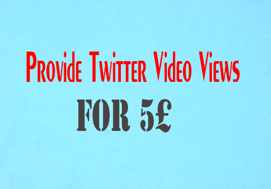 I will Provide Twitter Video Views